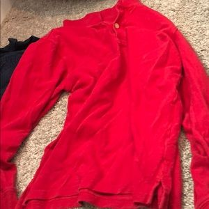 Place red long sleeve